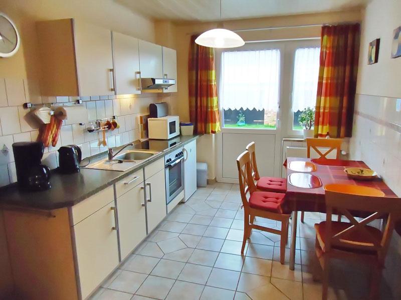 Küche der Ferienwohnung 1