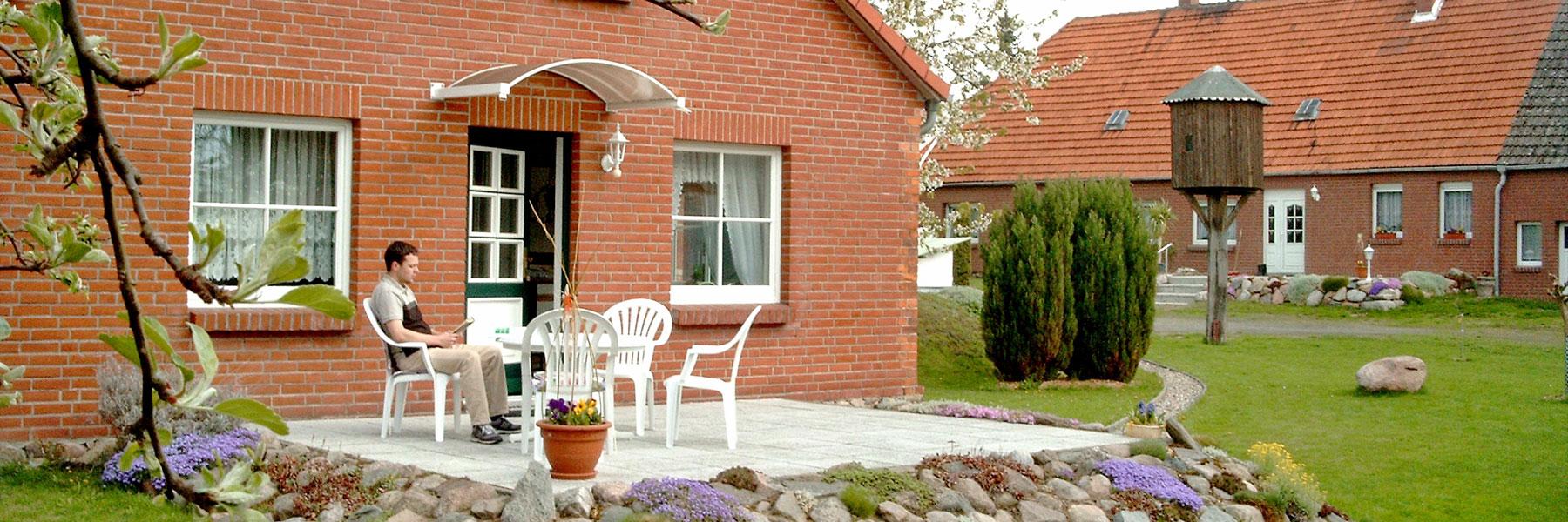 Terrasse Ferienwohnung1 - Fewo Steinhäuser