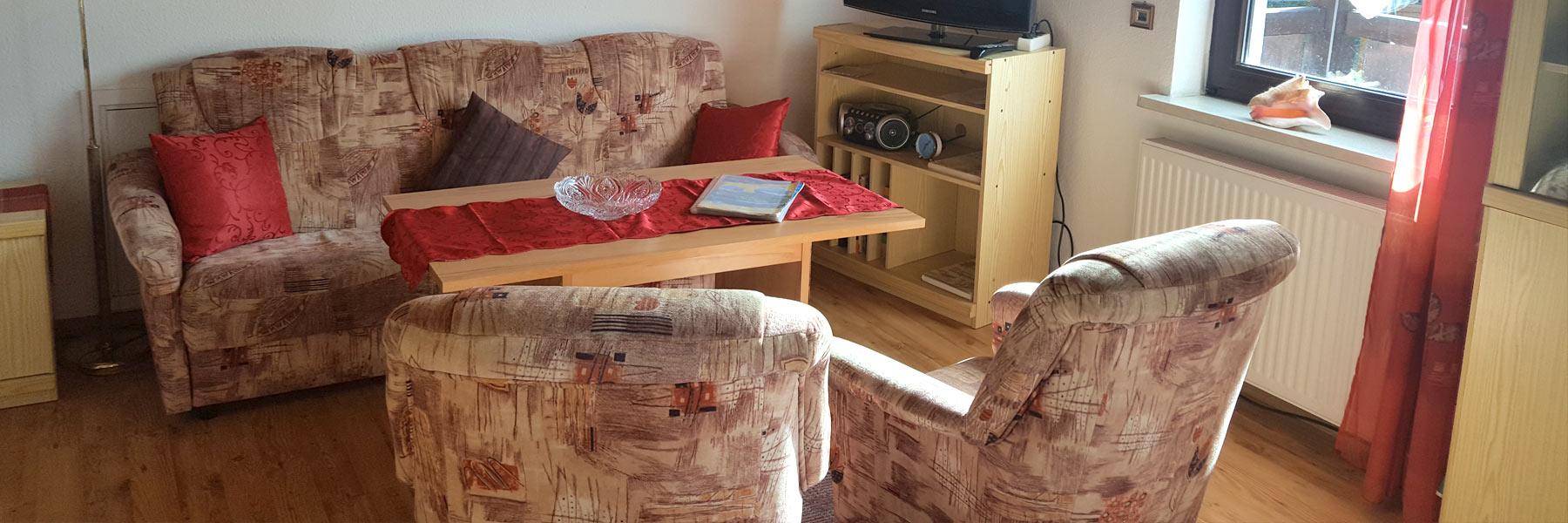 Fewo2-Wohnzimmer - Ferienwohnungen Elise Boß