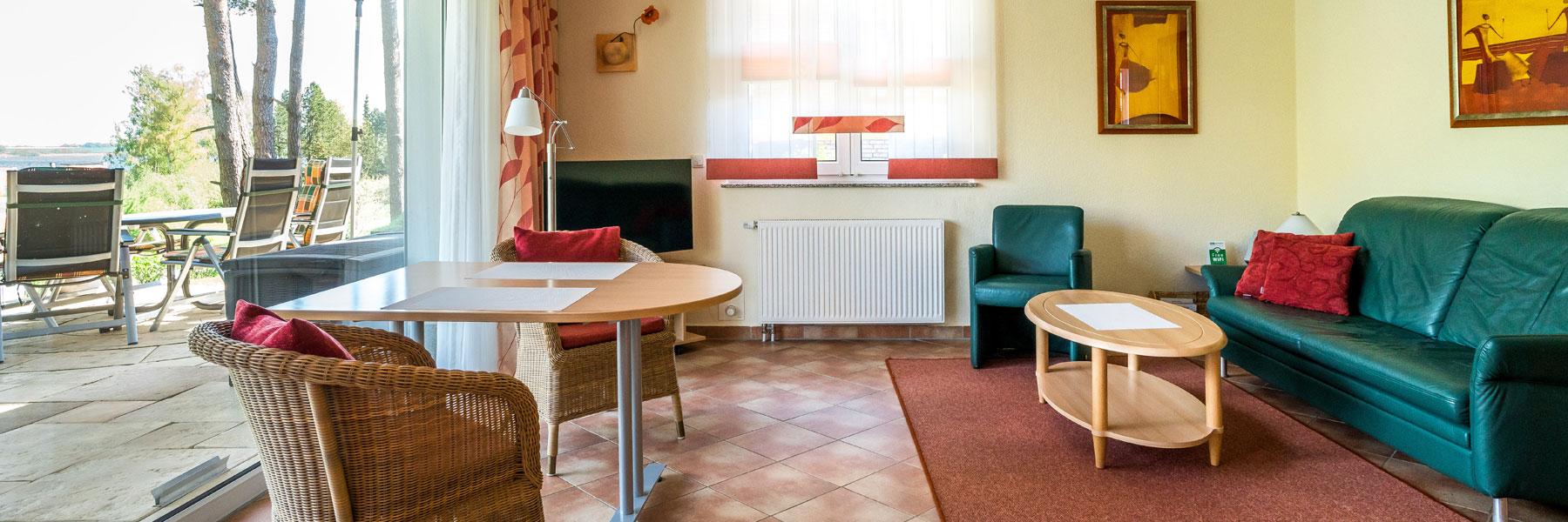 Wohnzimmer - Ferienhaus Kranichruf