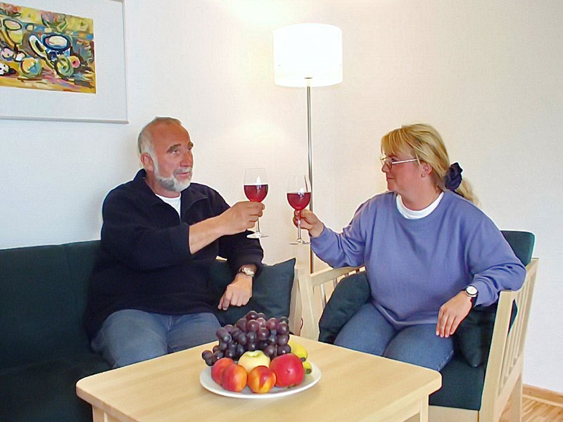 Gäste im Apartment