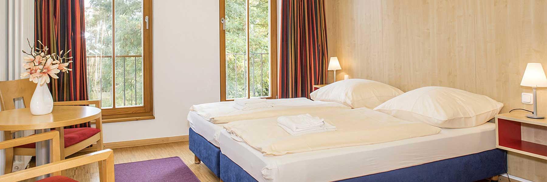 Apartment Schlafzimmer - Ferienapartments und Seminarhaus Heringsdorf