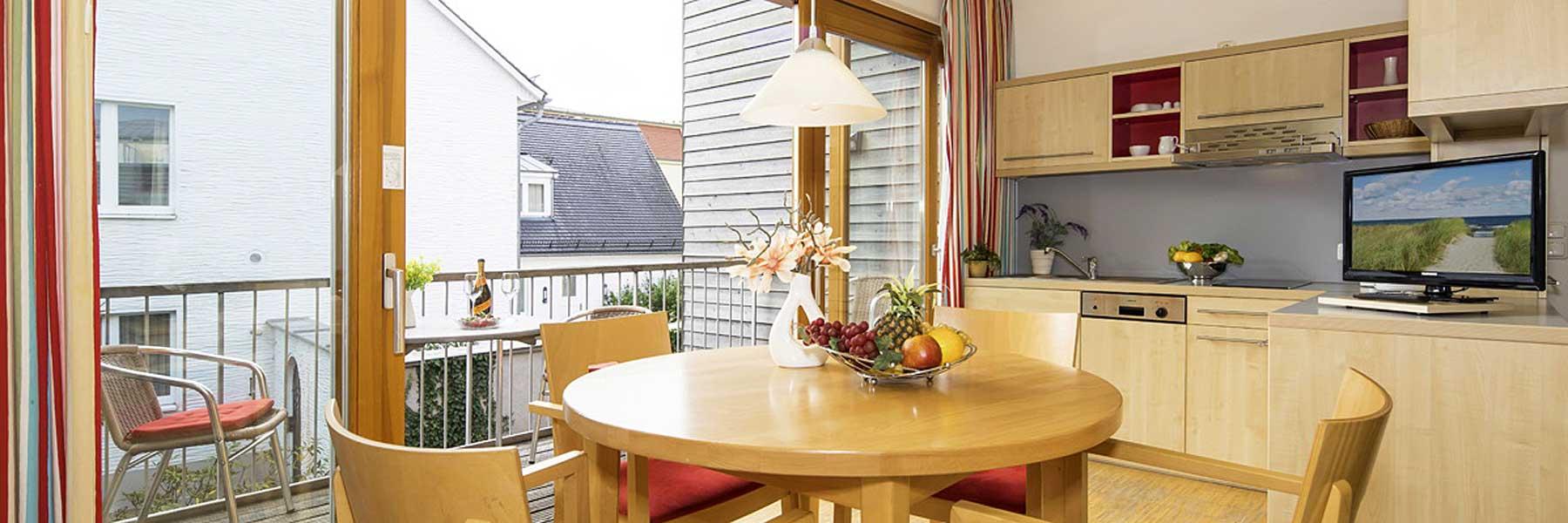 Apartment Wohnzimmer - Ferienapartments und Seminarhaus Heringsdorf