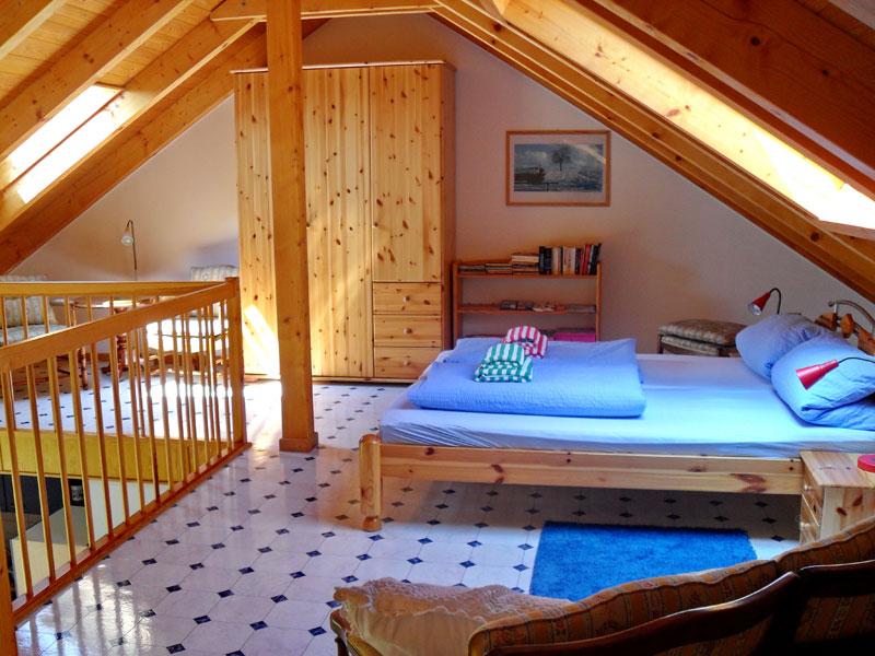Elternschlafgalerie im Obergeschoss