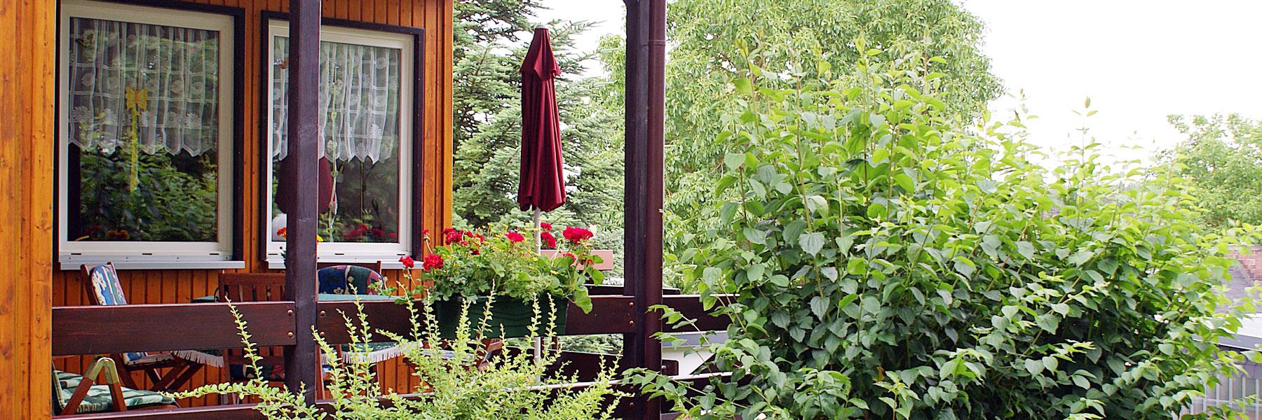 Terrasse - Ferienhaus Familie Hauß