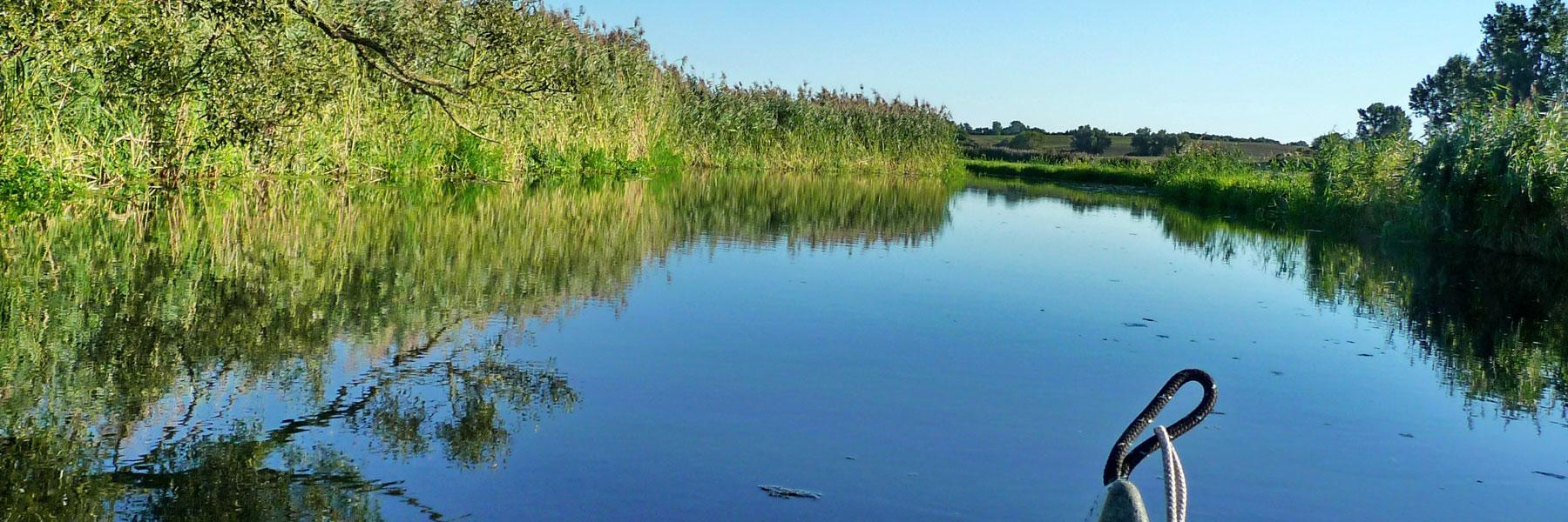 Fluß Tollense - Kanustation Klempenow
