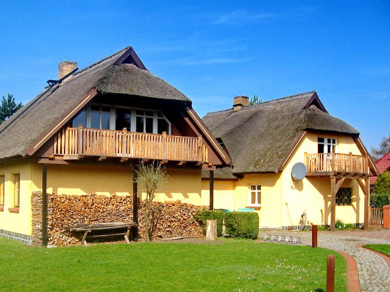 Außenansicht der Pension in Breswitz