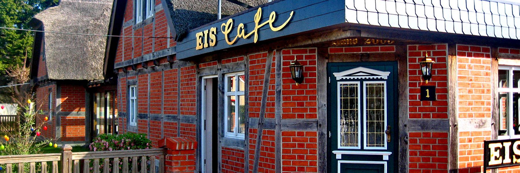 Eingang Café - Eis-Café Schumann & Pension