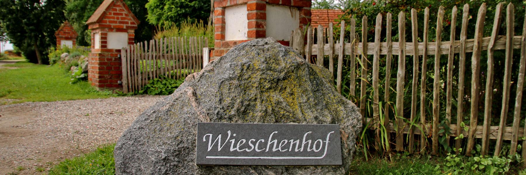 Eingangstor - Der Wieschenhof