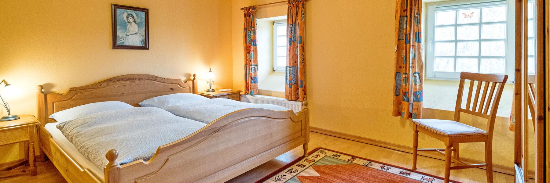 Schlafzimmer - Ferienappartement Bork