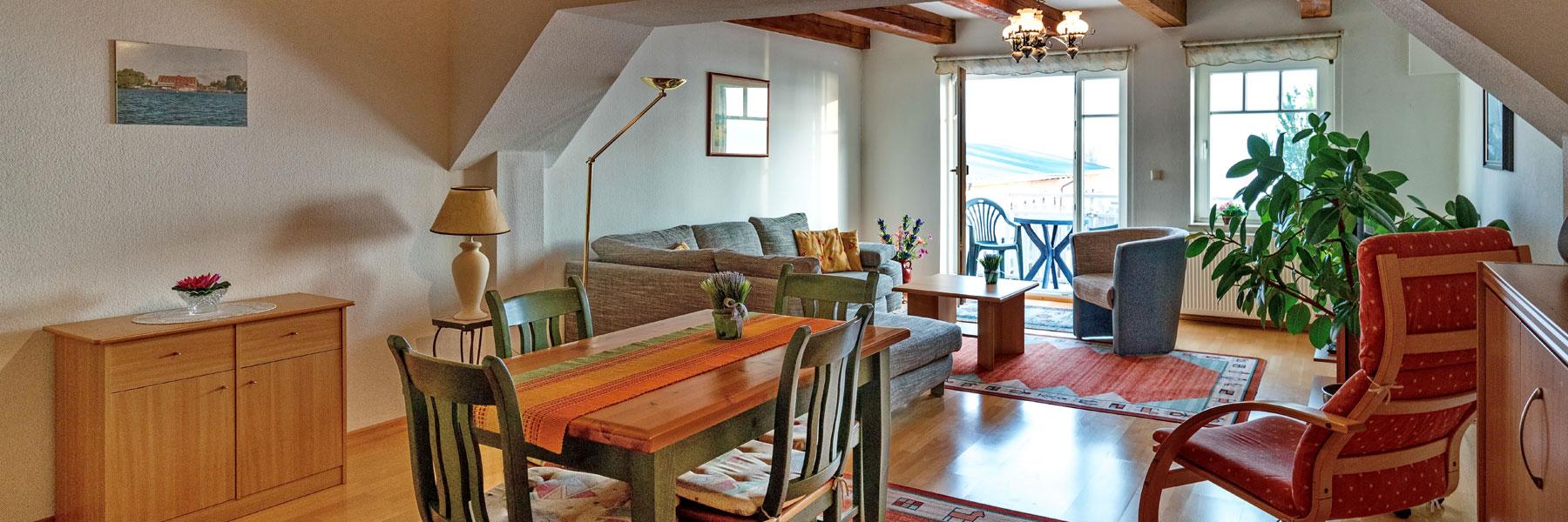 Wohnzimmer - Ferienappartement Bork