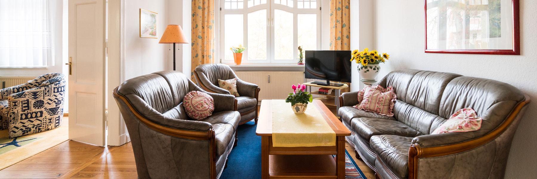 Wohnzimmer - Ferienwohnungen Bork