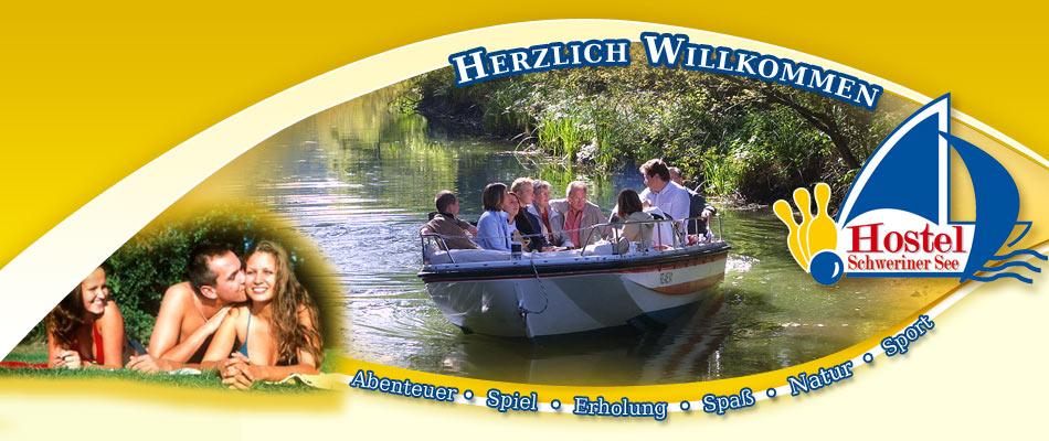 Bootfahren - Hostel  Schweriner See