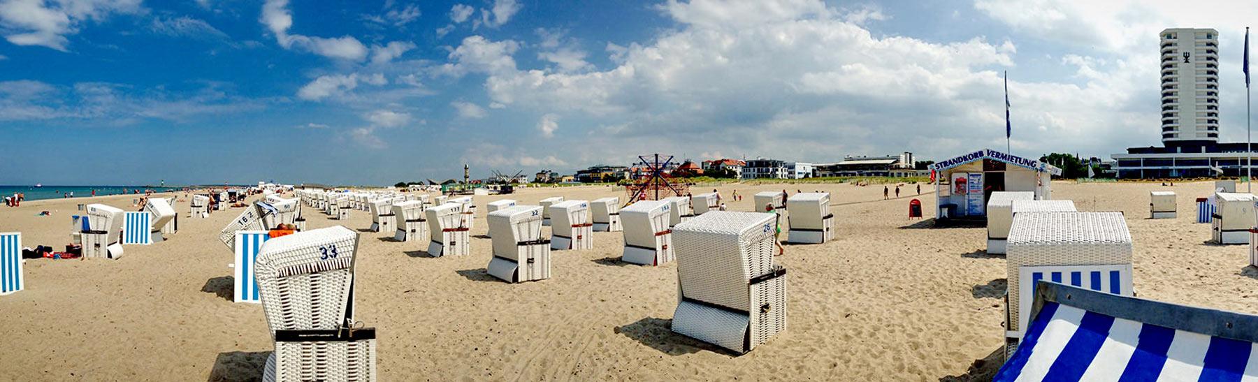 Ostseestrand - die Warnemünder