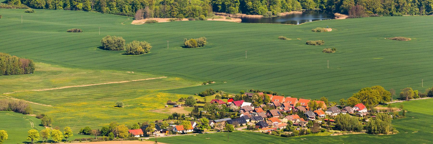 Luftbild - Landhaus Rügeband