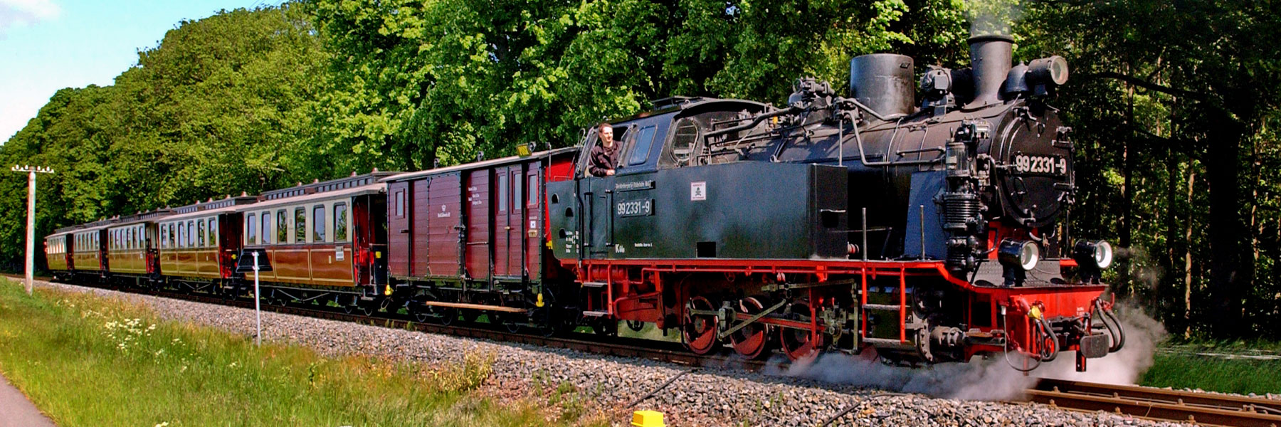Traditionsbahn Molly - Reiseleiter Schröder