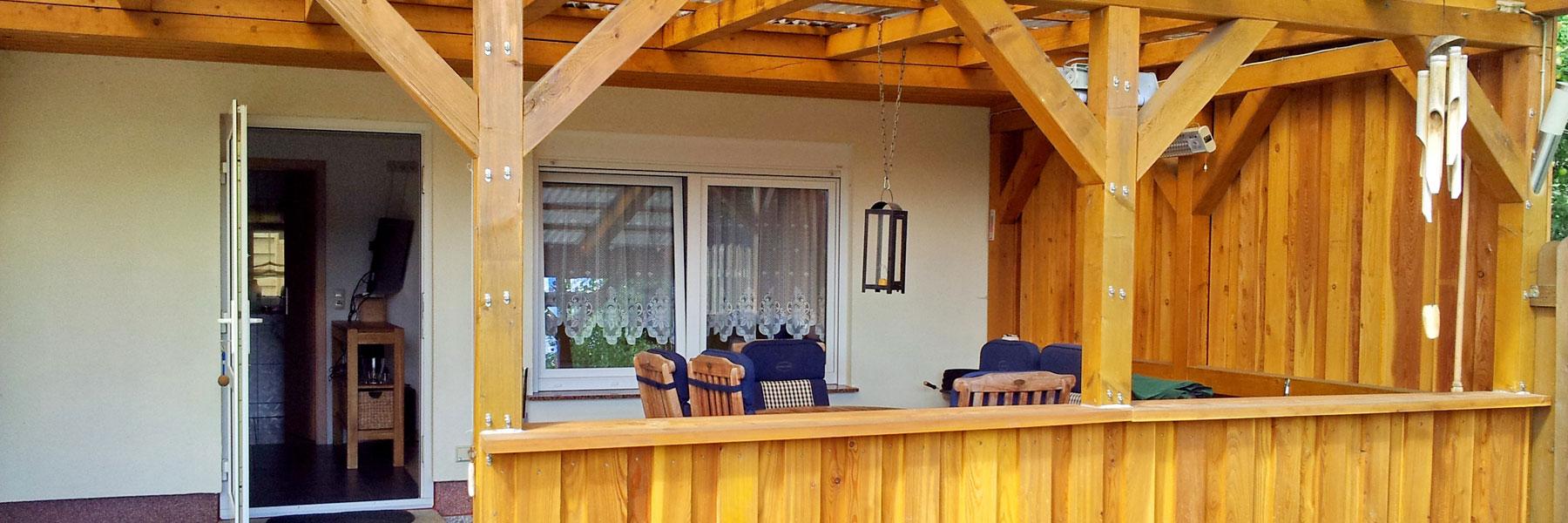 Terrasse - Ferienhaus am Tiefwarensee