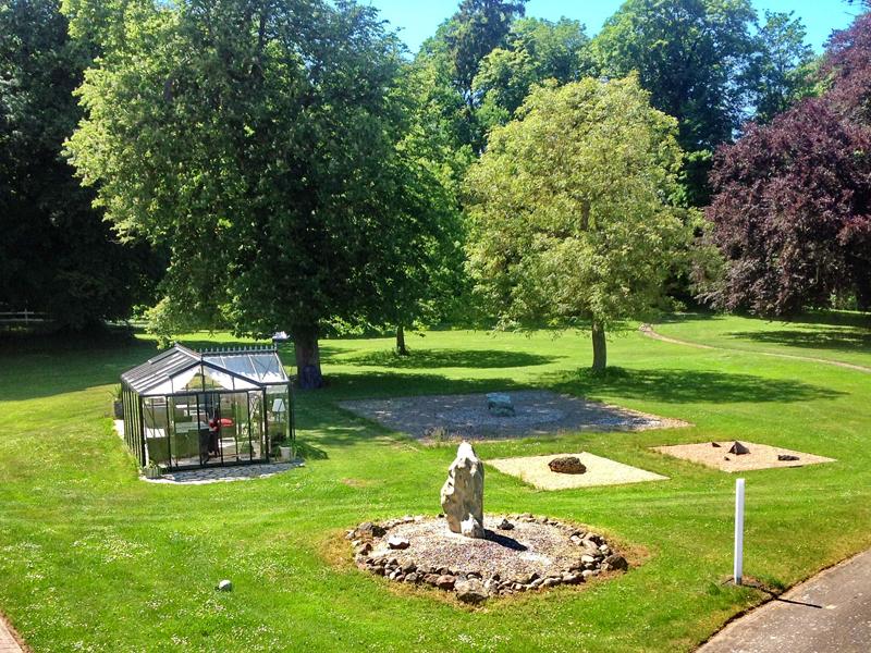 Gartenanlage vom Gutshaus