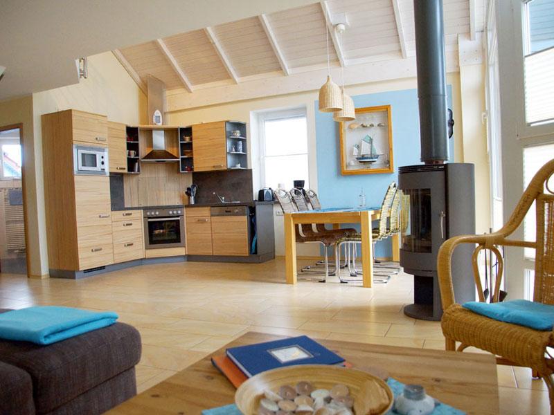 Wohnzimmer vom Ferienhaus 'Lütt Möw'