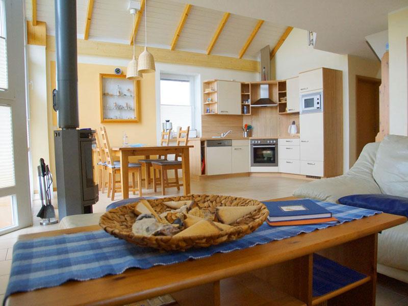 Wohnzimmer vom Ferienhaus 'Strandlöper'