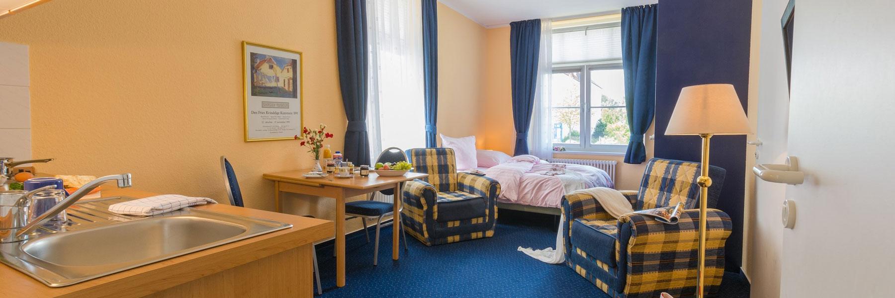 "1-Raum-Apartment - Apartmenthaus ""Villa Norden"""
