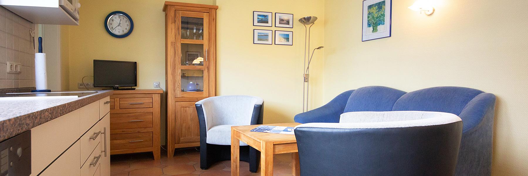Wohnraum - Ferienwohnungen im Fischerhus