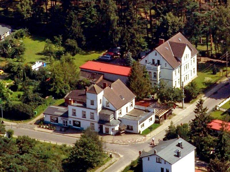 Luftaufnahme von der Ferienwohnung
