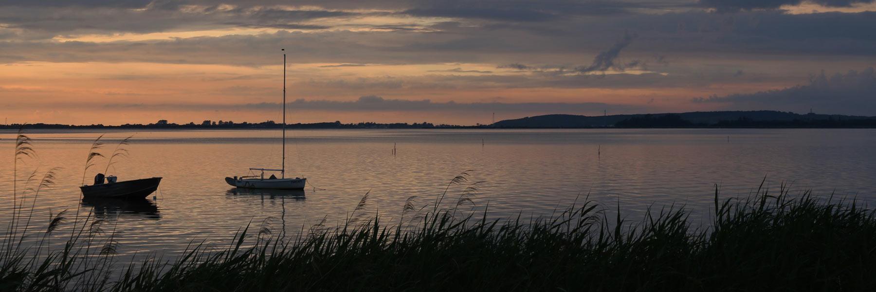 Schaproder Bodden Sonnenuntergang - Schaprode