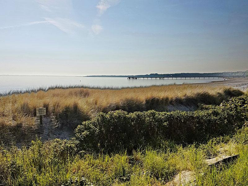Seebrücke und Ostseestrand