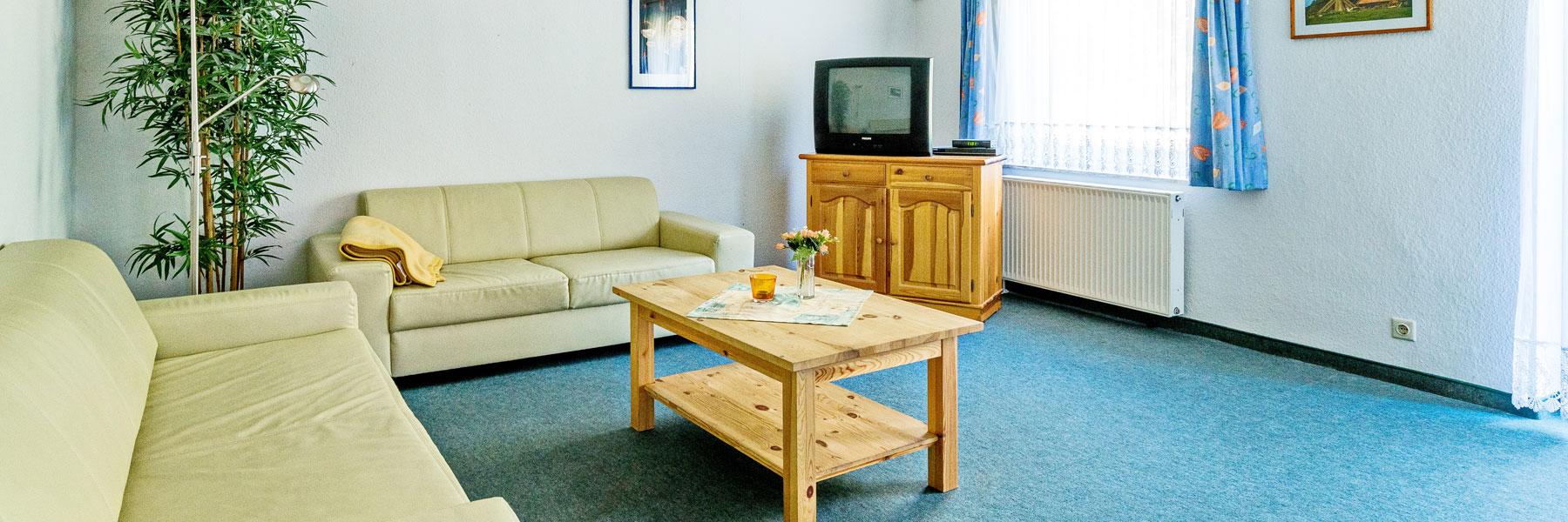 Wohnraum - Ferienwohnungen Waldesruh Dierhagen