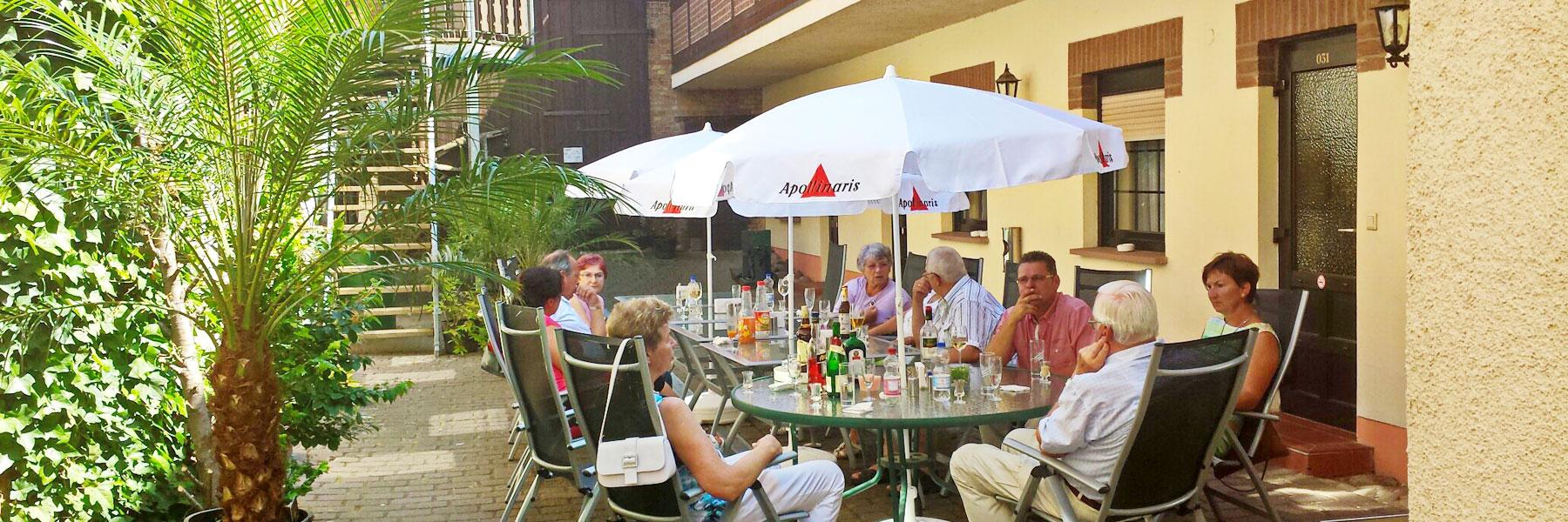 Innenhof - Hotel Haegert