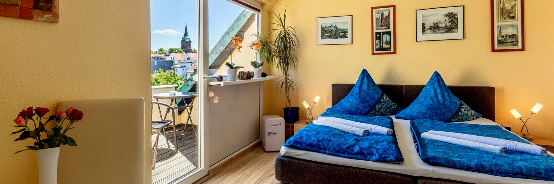 """Schlafzimmer - Hotel """"Nordlicht"""""""