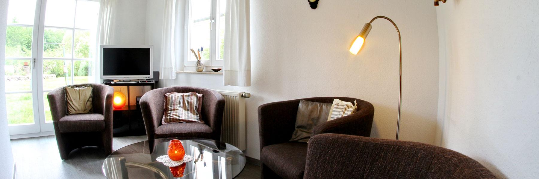 Wohnzimmer - Ferienwohnung Maria