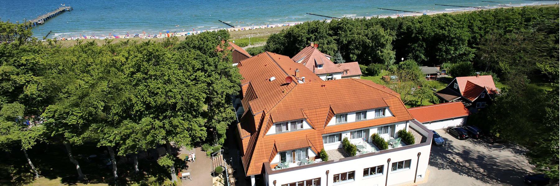 Luftaufnahme - Hotel Haus am Meer