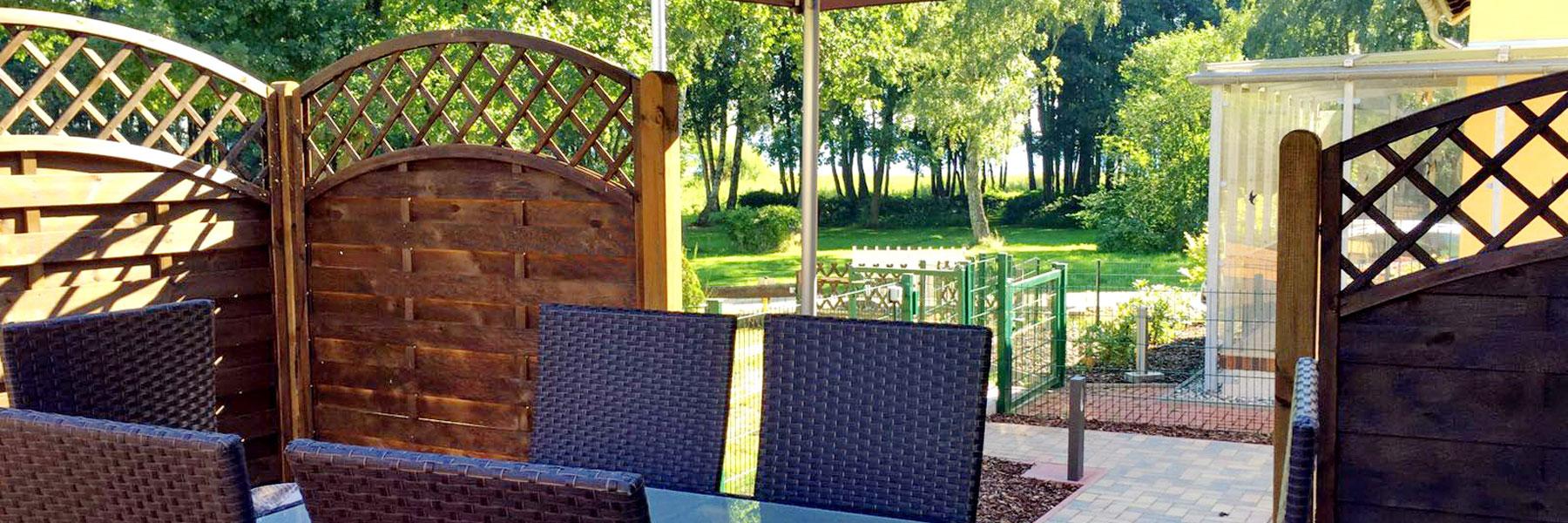 Terrasse - Ferienhaus Quetzina