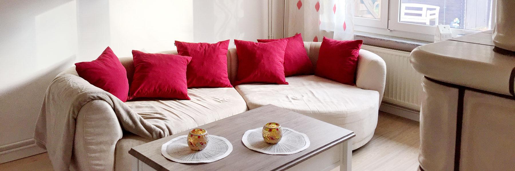 Wohnzimmer Couch - Ferienhaus Quetzina