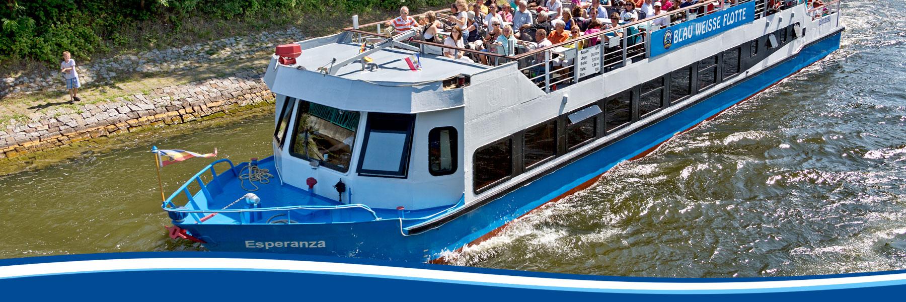 Ms Esperanza - Blau Weisse Flotte Müritz & Seen in Waren