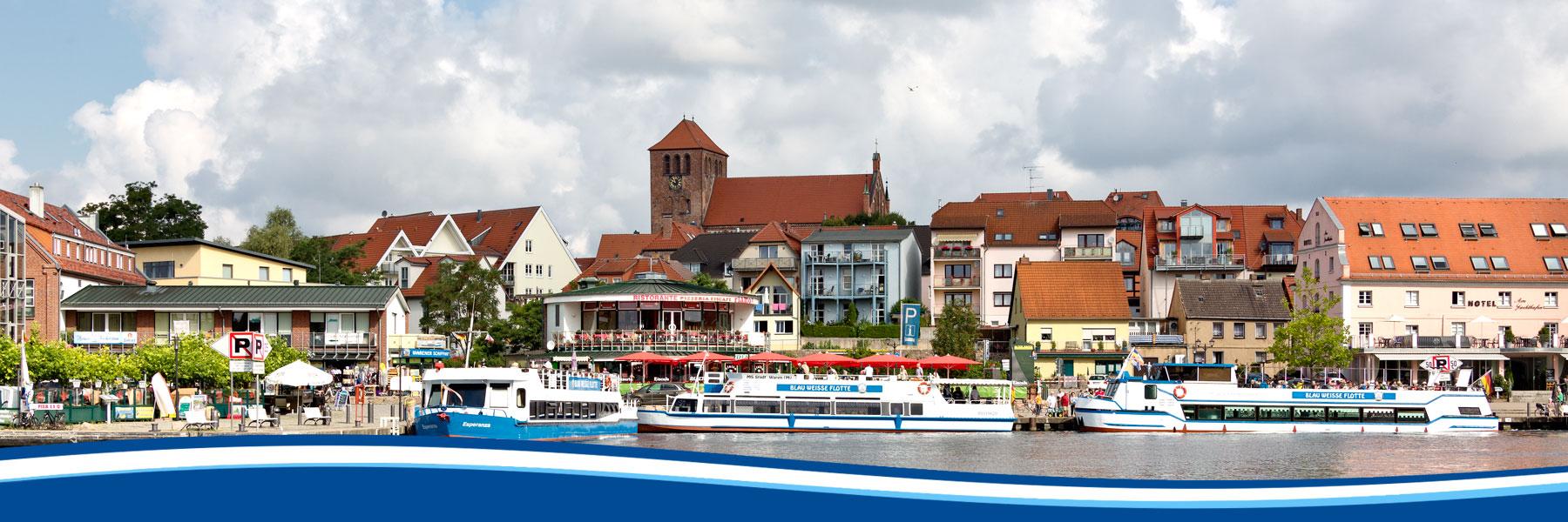Waren Müritz - Blau Weisse Flotte Müritz & Seen in Waren