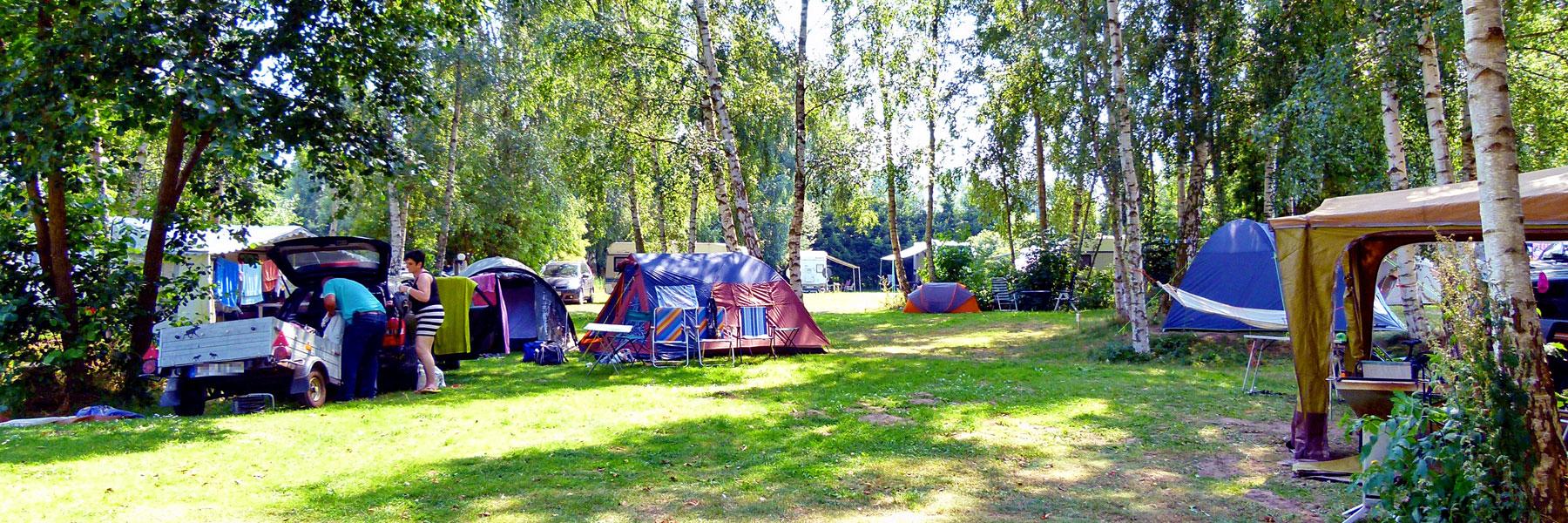 schattige Zeltplätze - Naturcamping Lassan