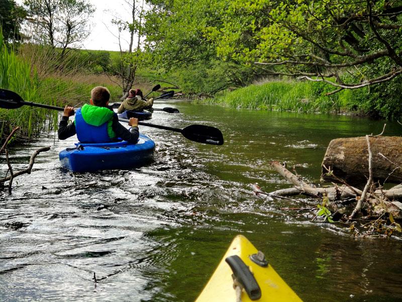 Tour mit dem Kanu auf de Warnow