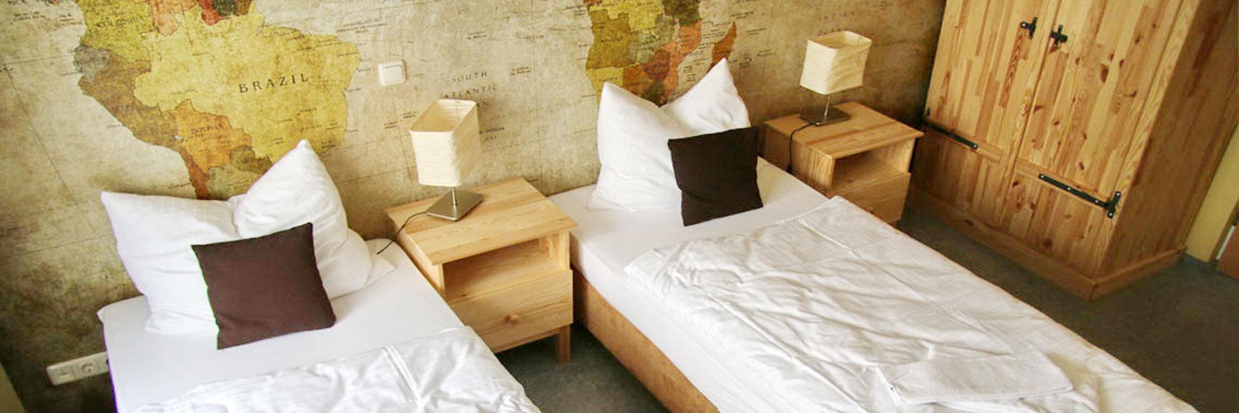 Zimmer mit Einzelbetten - Casilino Hotel A24 Wittenburg