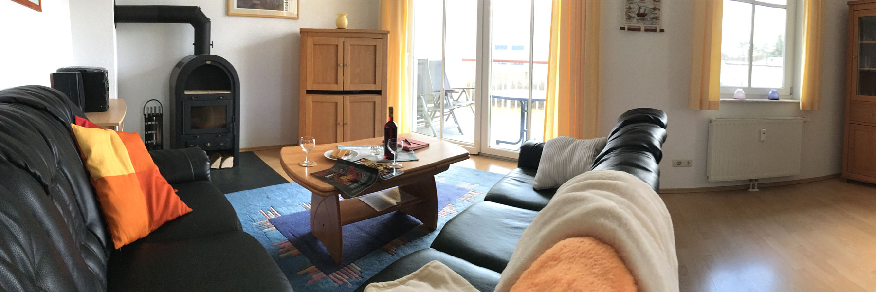 Wohnbereich - Ferienwohnung Usedom