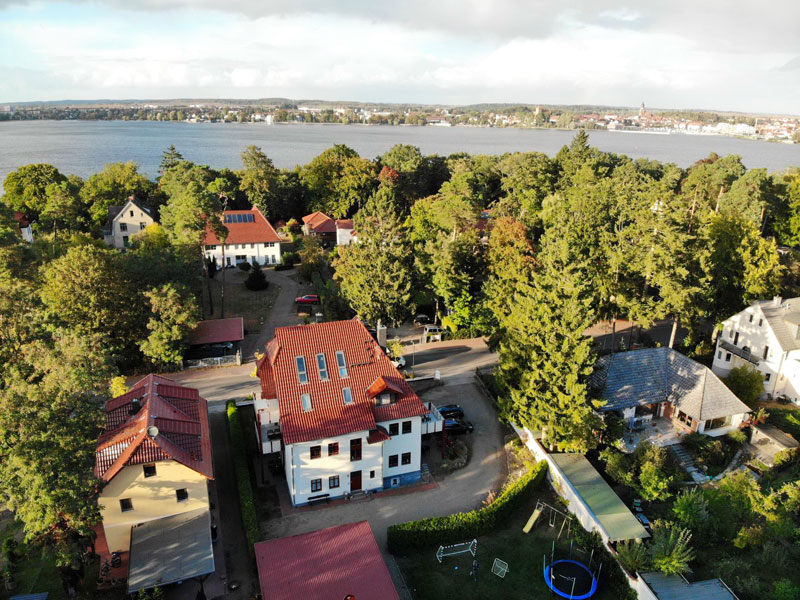 Luftbild von Waren Müritz