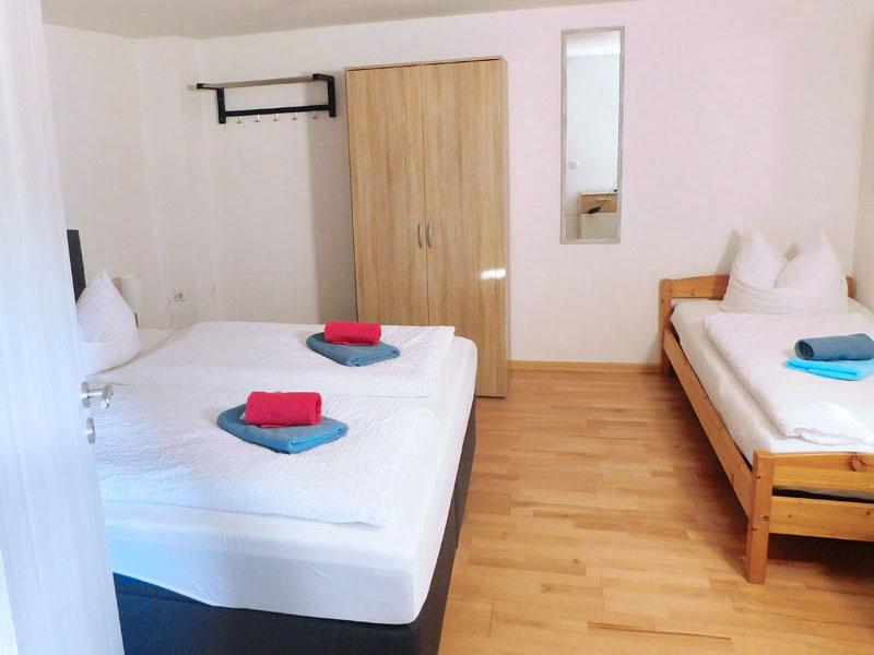 Drei-Bettzimmer im Hotel Mecklenburger Hof in Mirow